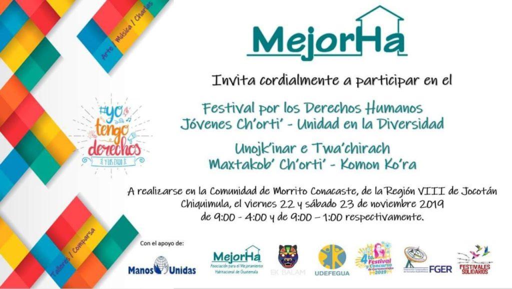Juventud Ch'orti' prepara festival por los derechos humanos