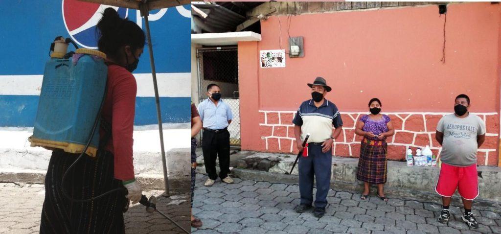 Mujeres al cuidado de San Lucas Tolimán