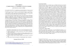Organismo Ejecutivo y municipalidades cometen violaciones del derecho a la vida