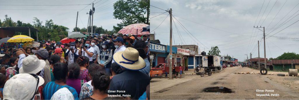 Autoridades de Petén se comprometen con comunidades afectadas por la crisis sanitaria