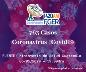 En el país asciende a 763 y  33 casos nuevos del covid19